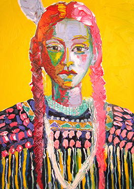Native American girl by Brad Smith, Santa Fe artist